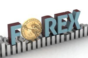 Forex Handel Buchstaben Forex O mit einer Münze auf Balkendiagramm